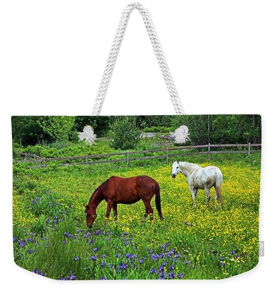 Grazing Amongst The Wildflowers Weekender Tote Bag