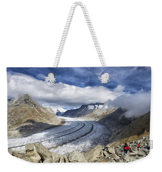 Great Aletsch Glacier Swiss Alps Switzerland Europe Weekender Tote Bag
