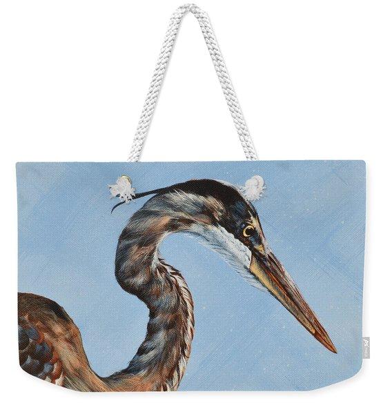 Great Blue Iv Weekender Tote Bag
