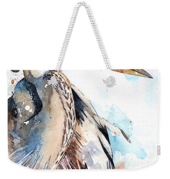 Great Blue Weekender Tote Bag
