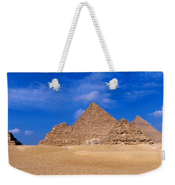 Great Pyramids, Giza, Egypt Weekender Tote Bag