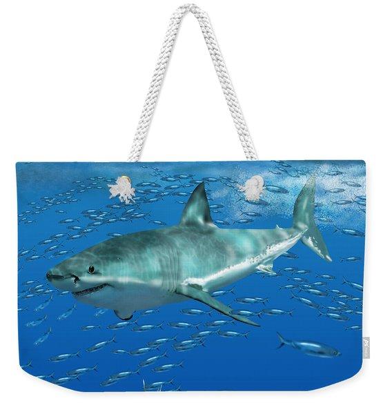 Great White Shark Weekender Tote Bag
