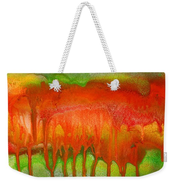 Green And Orange Abstract Weekender Tote Bag