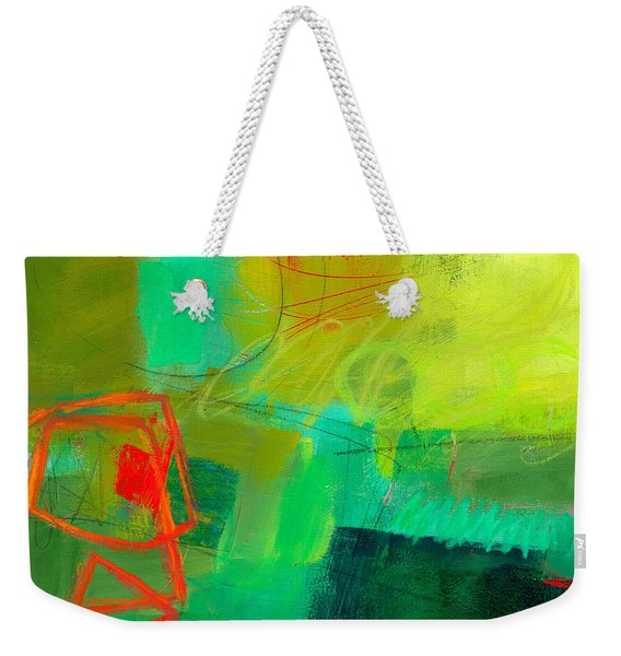 Green And Red #1 Weekender Tote Bag