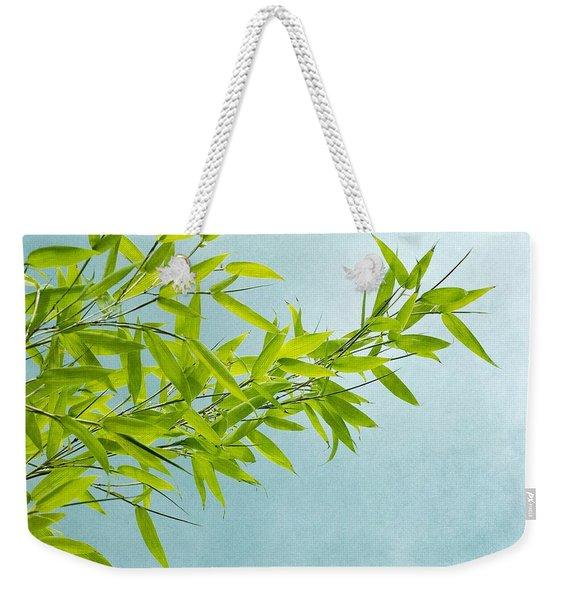 Green Bamboo Weekender Tote Bag