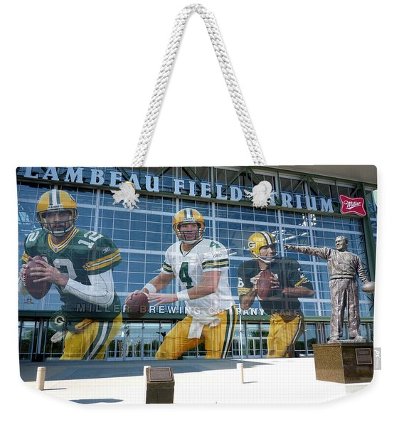 Green Bay Packers Lambeau Field Weekender Tote Bag