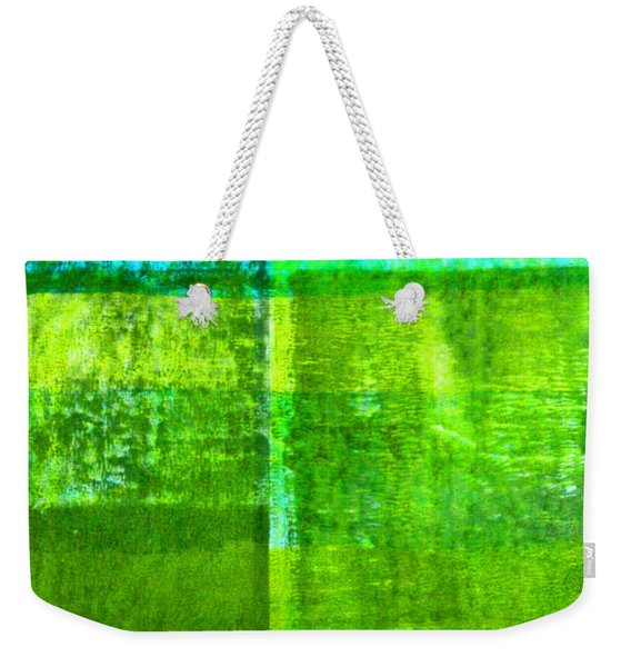 Green Boxes Abstract Weekender Tote Bag