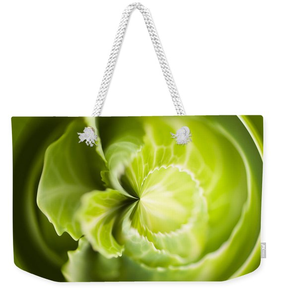 Green Cabbage Orb Weekender Tote Bag