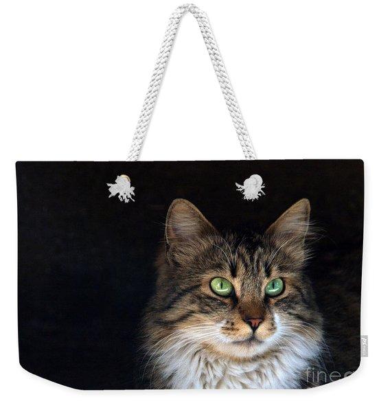Green Eyes Weekender Tote Bag