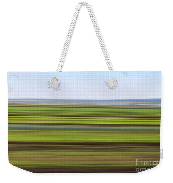 Green Field Abstract Weekender Tote Bag