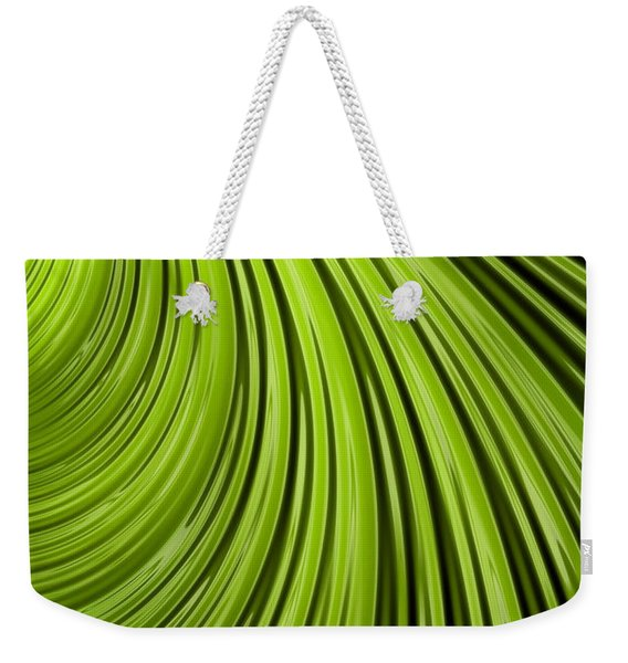 Green Flow Abstract Weekender Tote Bag