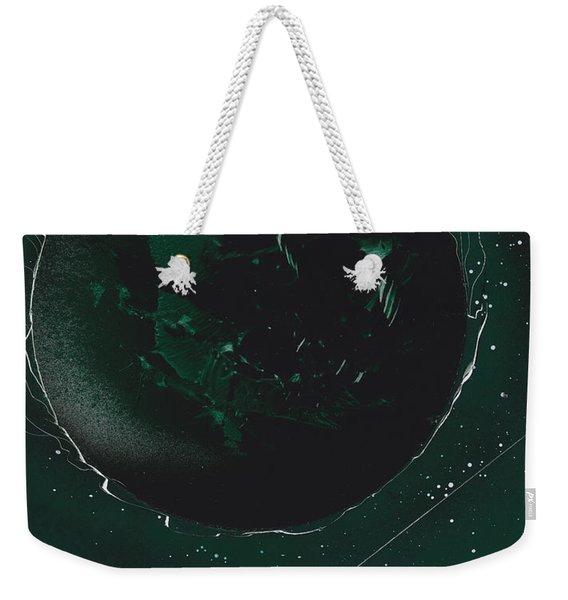 Green Galaxies Weekender Tote Bag