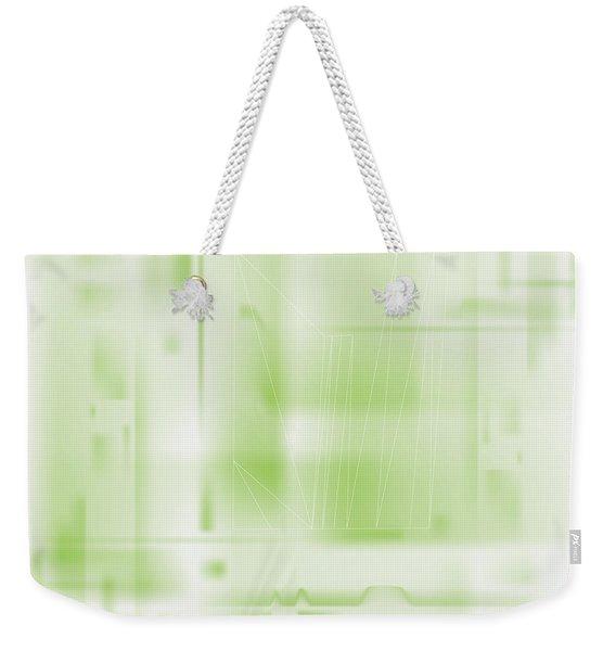 Green Ghost City Weekender Tote Bag