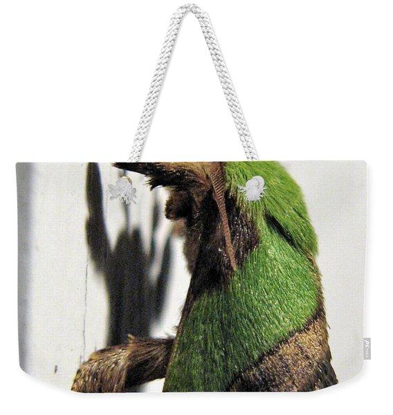 Green Hair Moth Weekender Tote Bag