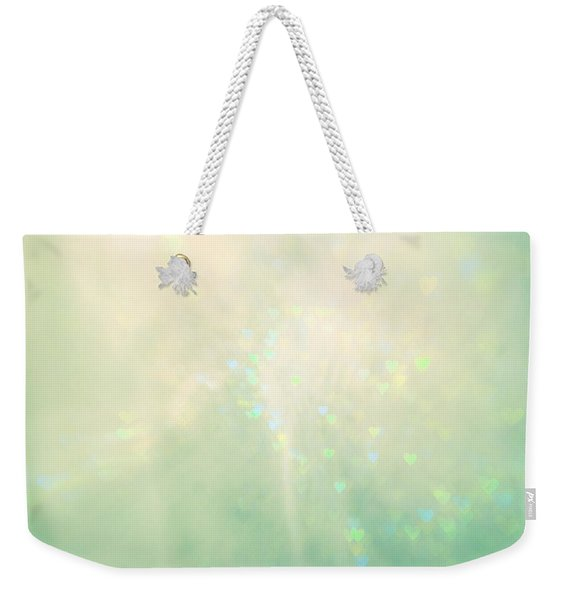 Green Hearts Weekender Tote Bag