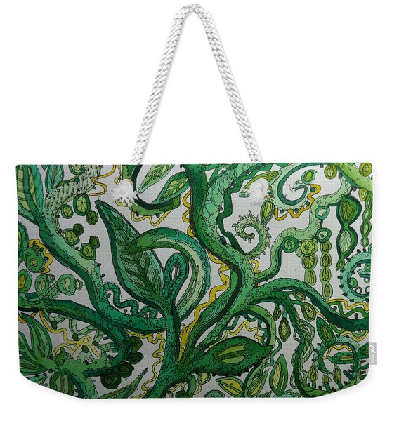 Green Meditation Weekender Tote Bag