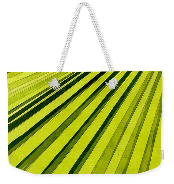 Green Palm Frond Weekender Tote Bag