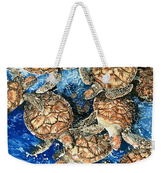 Green Sea Turtles Weekender Tote Bag