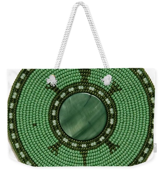 Green Shell Turtle Weekender Tote Bag
