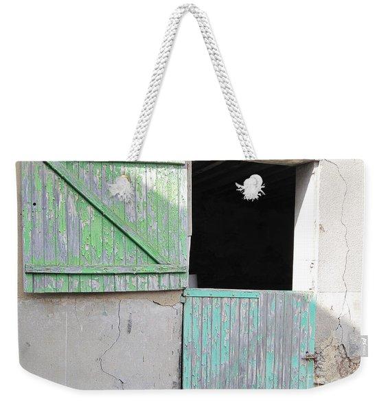 Green Stable Door Weekender Tote Bag