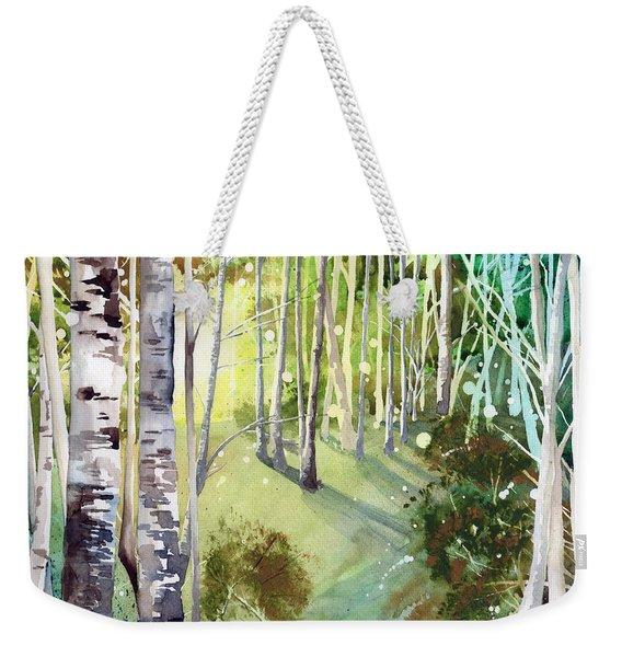 Green Sun Weekender Tote Bag