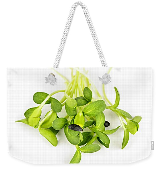 Green Sunflower Sprouts Weekender Tote Bag