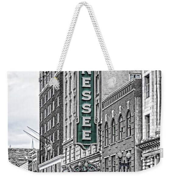 Green Tennessee Theatre Marquee Weekender Tote Bag