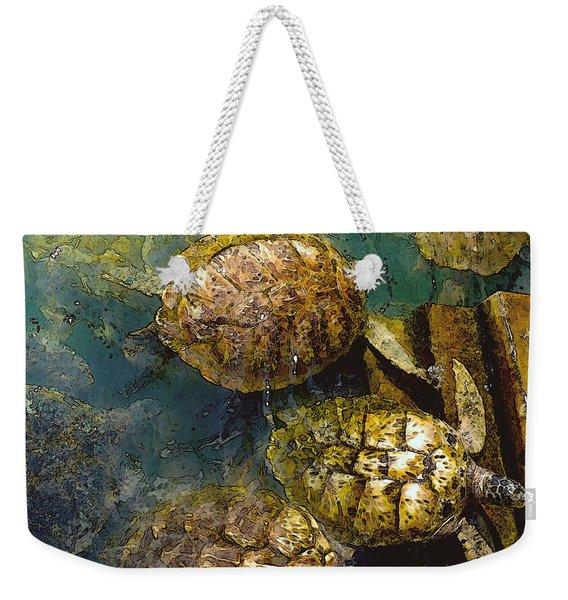 Green Turtles Weekender Tote Bag