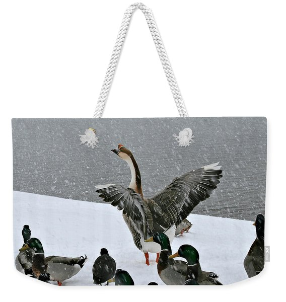 Green Valley Ducks Weekender Tote Bag