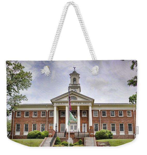 Greeneville Town Hall Weekender Tote Bag