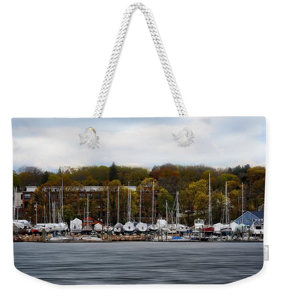 Greenwich Harbor Weekender Tote Bag