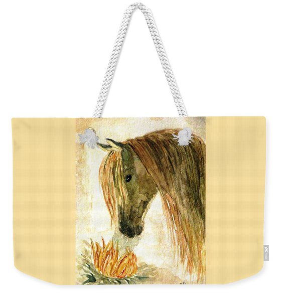 Greeting A Sunflower Weekender Tote Bag
