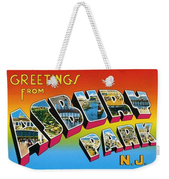 Greetings From Asbury Park Nj Weekender Tote Bag