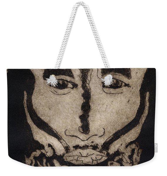 Greetings From New Guinea - Mask - Tribesmen - Tribesman - Tribal - Jefe - Chef De Tribu Weekender Tote Bag