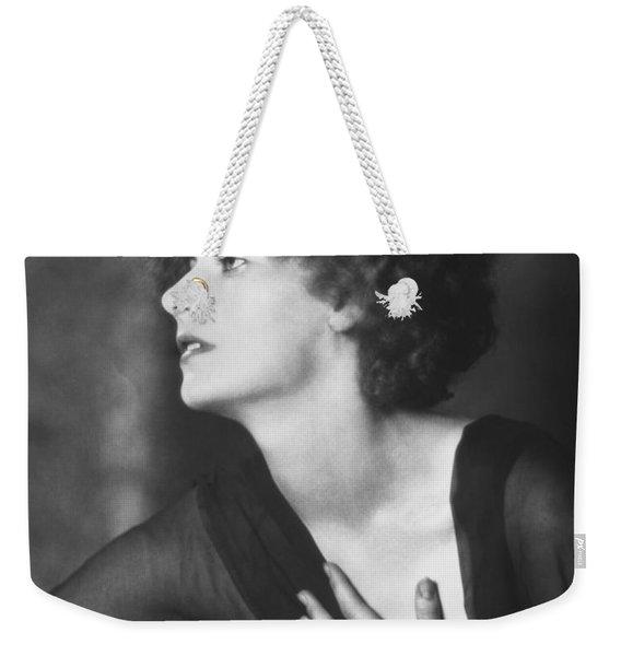 Greta Garbo Portrait Weekender Tote Bag