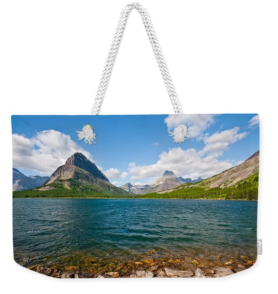 Grinnell Point From Swiftcurrent Lake Weekender Tote Bag