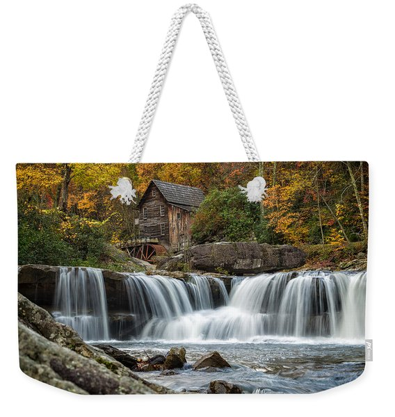 Grist Mill With Vibrant Fall Colors Weekender Tote Bag