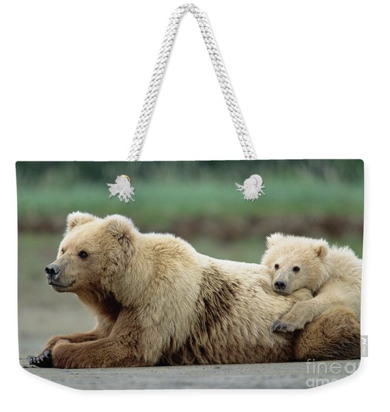 Grizzly Mother And Son Weekender Tote Bag