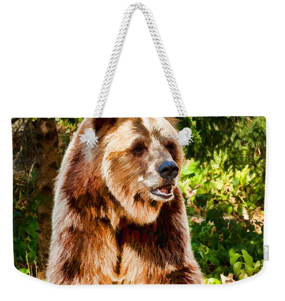 Grizzly Bear - Painterly Weekender Tote Bag