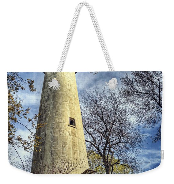 Grosse Point Lighthouse Color Weekender Tote Bag