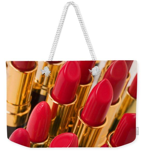Group Of Red Lipsticks Weekender Tote Bag
