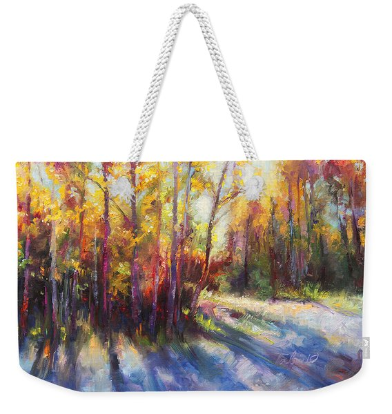 Weekender Tote Bag featuring the painting Growth by Talya Johnson