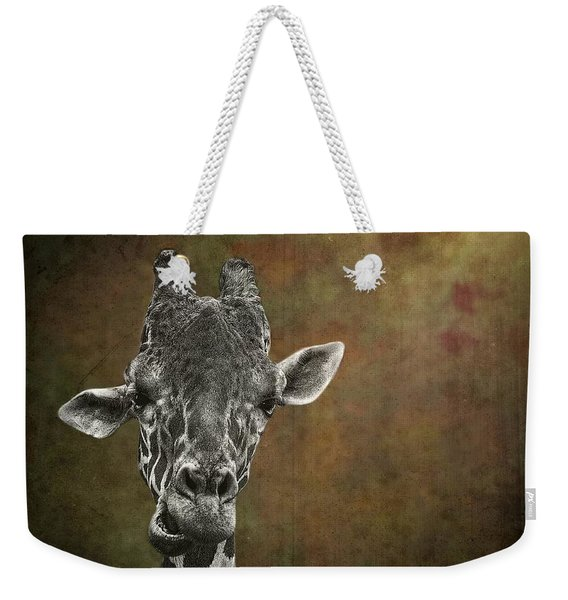 Grungy Giraffe 5654 Brown Weekender Tote Bag