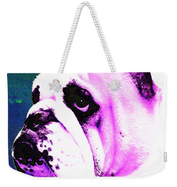 Grunt - Bulldog Pop Art By Sharon Cummings Weekender Tote Bag