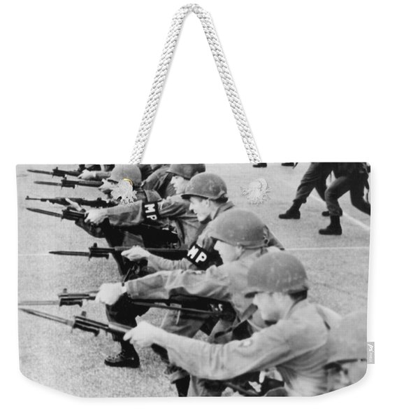 Guardsmen In Alabama Weekender Tote Bag