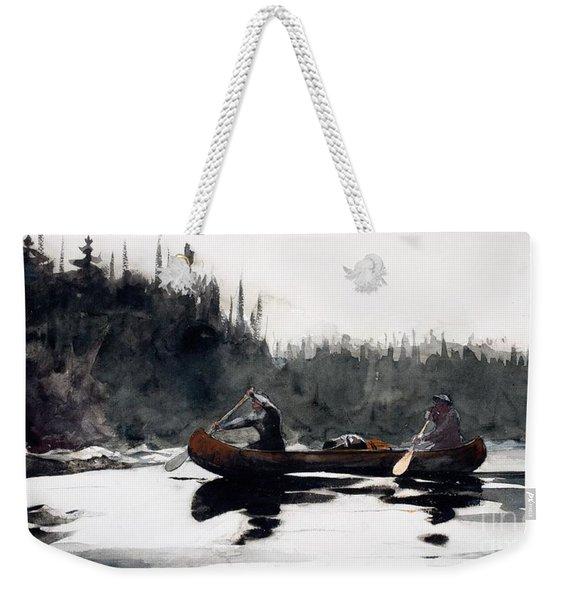 Guides Shooting Rapids Weekender Tote Bag