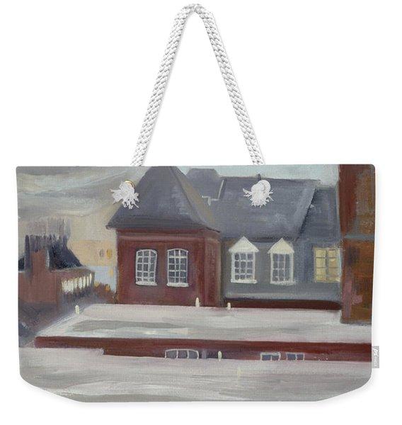 Guinness Trust Buildings, Fulham Palace Road Oil Pastel On Paper Weekender Tote Bag