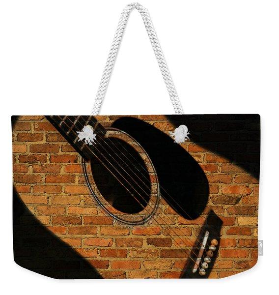 Guitar Shadow Weekender Tote Bag