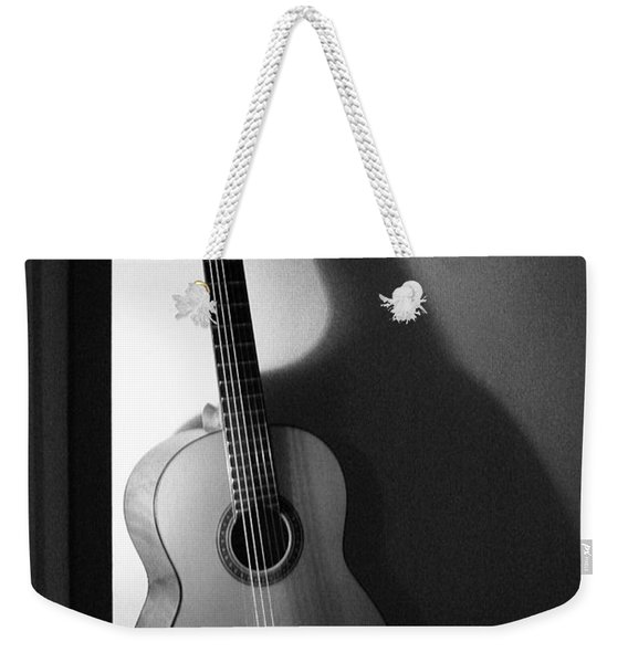 Guitar Still Life In Black And White Weekender Tote Bag