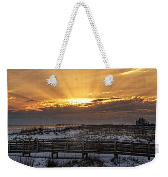 Gulf Shores From Pavilion Weekender Tote Bag
